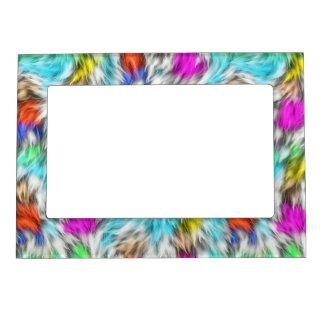 Cadre Magnétique Motif coloré de fourrure de léopard