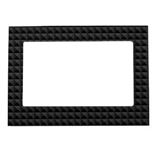 Cadre Magnétique Motif géométrique moderne de carré noir
