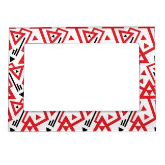 Cadre Magnétique Motif géométrique rouge d'avant-garde et noir
