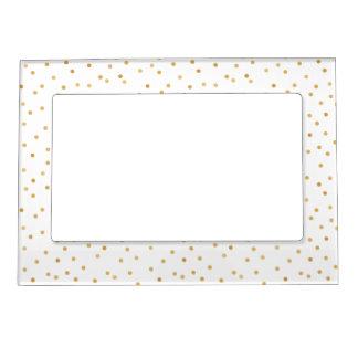 Cadre Magnétique Points modernes élégants de confettis de blanc et