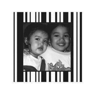 Cadre noir et blanc personnalisable de photo impressions sur toile