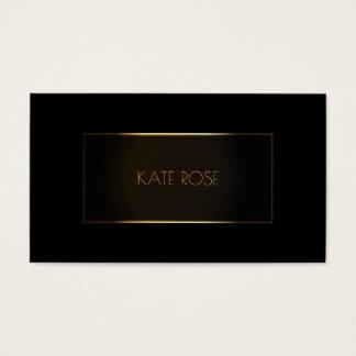 Cadre noir moderne contemporain VIP d'or Cartes De Visite