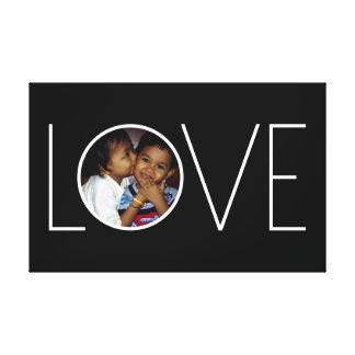"""Cadre personnalisable de photo de """"amour"""" toile tendue"""