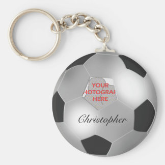 Cadre personnalisable de photo de ballon de footba porte-clef
