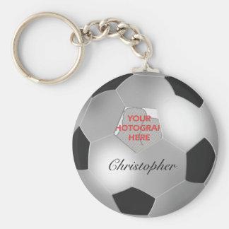 Cadre personnalisable de photo de ballon de porte-clé rond