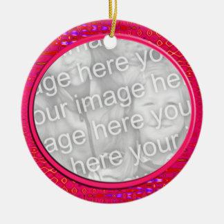 cadre rose de photo ornement