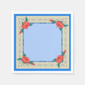 Cadre rose serviettes jetables