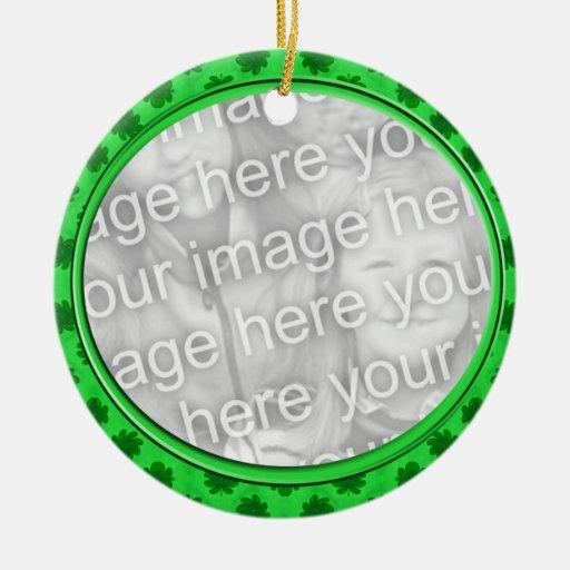 cadre vert floral de photo ornement de noël
