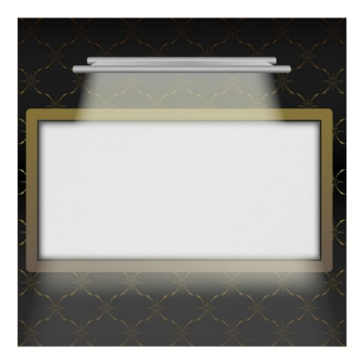 Cadre vide lumineux posters zazzle - Cadre lumineux cascade ...