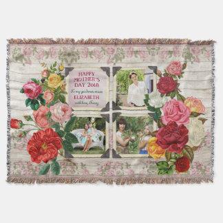 Cadre vintage de photo d'Instagram de roses du Couverture