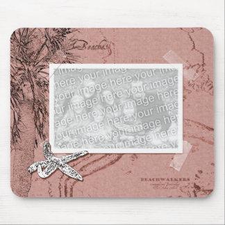Cadre vintage Mousepad de photo de souvenirs de pl Tapis De Souris