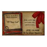 Cadres vintages de sucrerie en rouge carte de visite