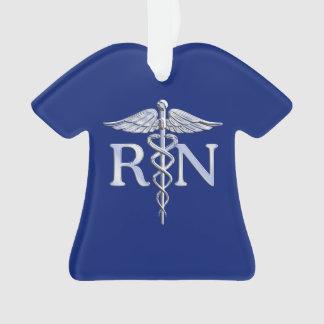 Caducée argenté de RN d'infirmier autorisé sur le