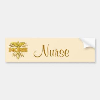 Caducée de fantaisie d'or d'infirmière