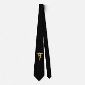 Caducée, symbole de médecine cravate