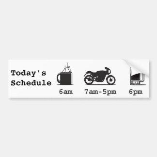 Café 2wheels de Today'sSchedule et bière Autocollant De Voiture