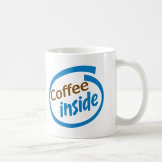 Café à l'intérieur mug blanc