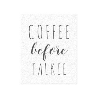 Café avant toile de ferme de film parlant