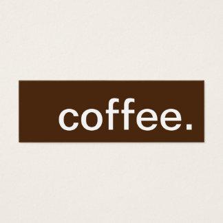 café. carte perforée de fidélité