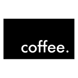 café. carte perforée de fidélité carte de visite standard