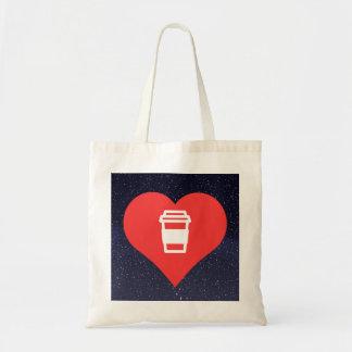 Café chaud d'amour frais sac en toile budget