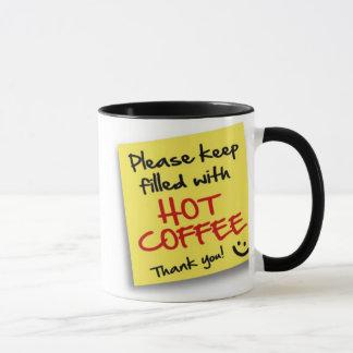 CAFÉ CHAUD de courrier - tasse