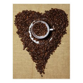 Café coeur cartes postales