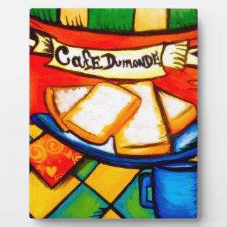 Café coloré Dumonde Plaque Photo