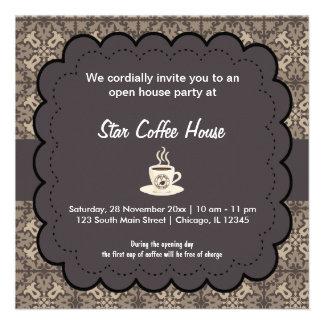 Café d ouverture officielle invitations