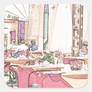 Café d'Alhergo Sticker Carré