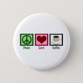Café d'amour de paix badge