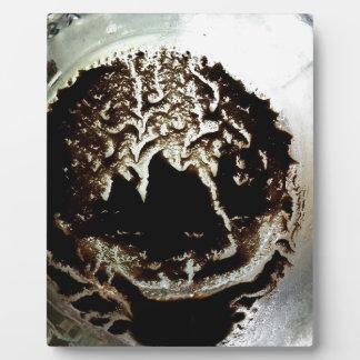 Café dans la conception de pot de maçon plaque photo