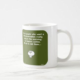 Café de conversation de début de la matinée du mug