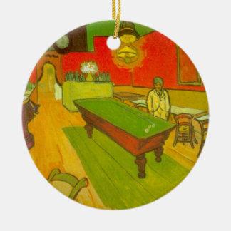Café de nuit de Van Gogh, beaux-arts vintages Ornement Rond En Céramique