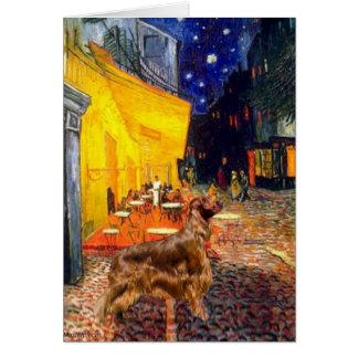 Café de terrasse - poseur 3 d'Irisih Carte De Vœux