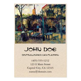 Café de terrasse sur Montmartre Vincent van Gogh Carte De Visite Grand Format