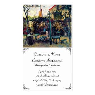 Café de terrasse sur Montmartre Vincent van Gogh Carte De Visite Standard