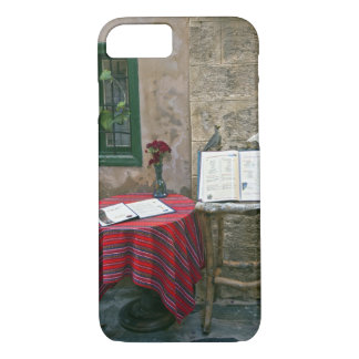 Café de trottoir, Chania, Crète, Grèce Coque iPhone 7