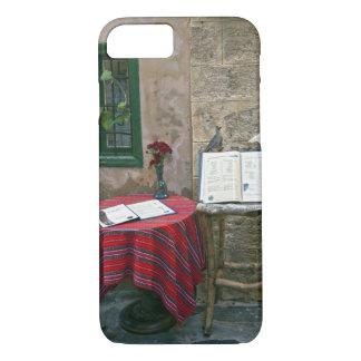 Café de trottoir, Chania, Crète, Grèce Coque iPhone 8/7