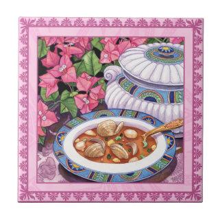 Café d'île - la soupe est servie petit carreau carré