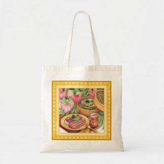 Café d'île - vapeur en bambou sacs en toile
