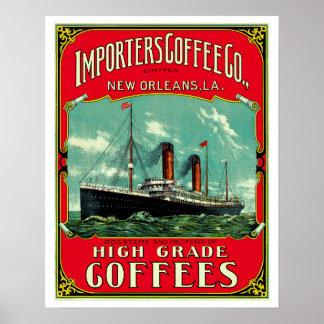 Café d'importateurs posters