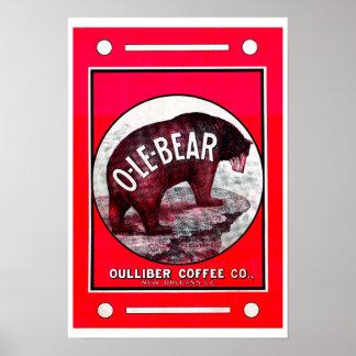 Café d'O-Le-Ours Posters