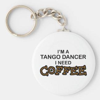 Café du besoin - danseur de tango porte-clé rond