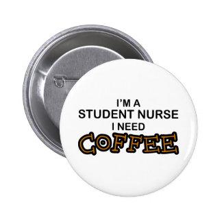 Café du besoin - élève-infirmière pin's avec agrafe