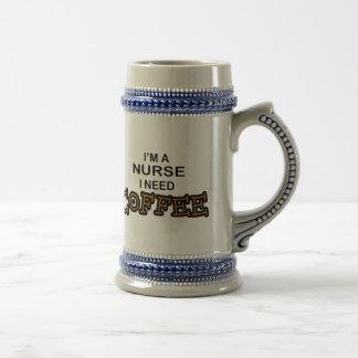 Café du besoin - infirmière chope à bière
