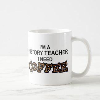 Café du besoin - professeur d'histoire mug