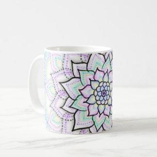Café en pastel de mandala - tasse de thé