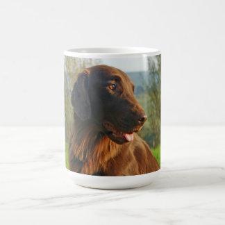 Café enduit plat de photo de chien de chien mug