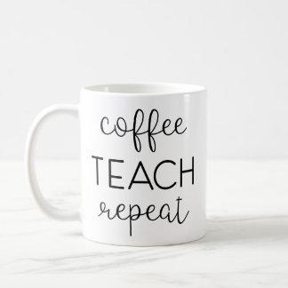 Café. Enseignez. Répétez Mug